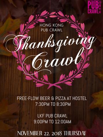Poster of Thanksgiving crawl in November