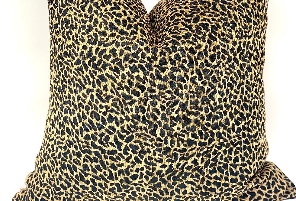 Black & Gold Animal Print Pillow//Brooklynn