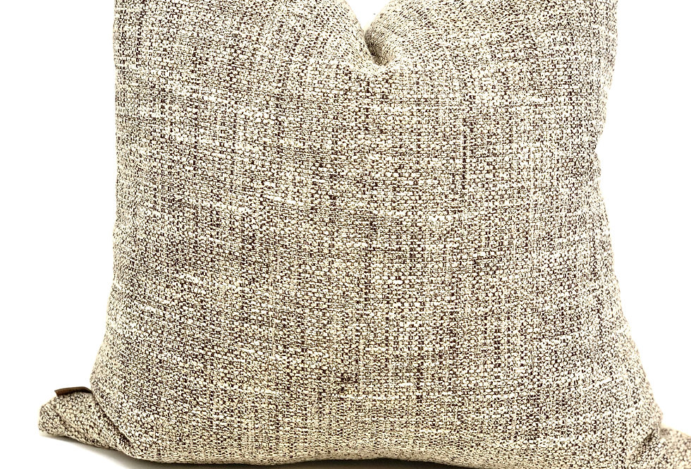 Cream Black Beige Woven Decorative Pillow-Black Cream Designer Pillow-Italy