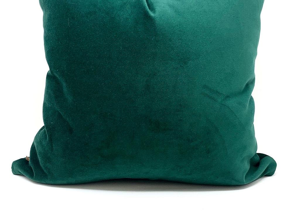 Emerald Green Velvet Pillow//Asia