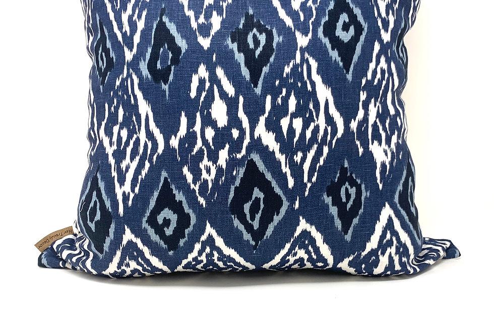 Indigo Ikat Decor Pillow//Ikat