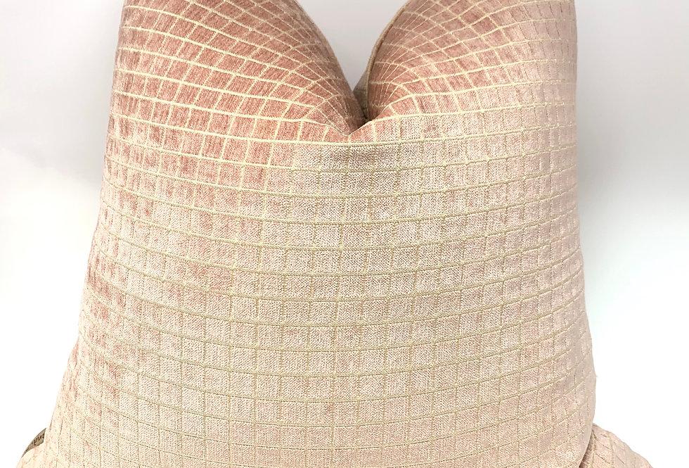Persian Square Blush Velvet Cover-Blush Pillow//Maldives