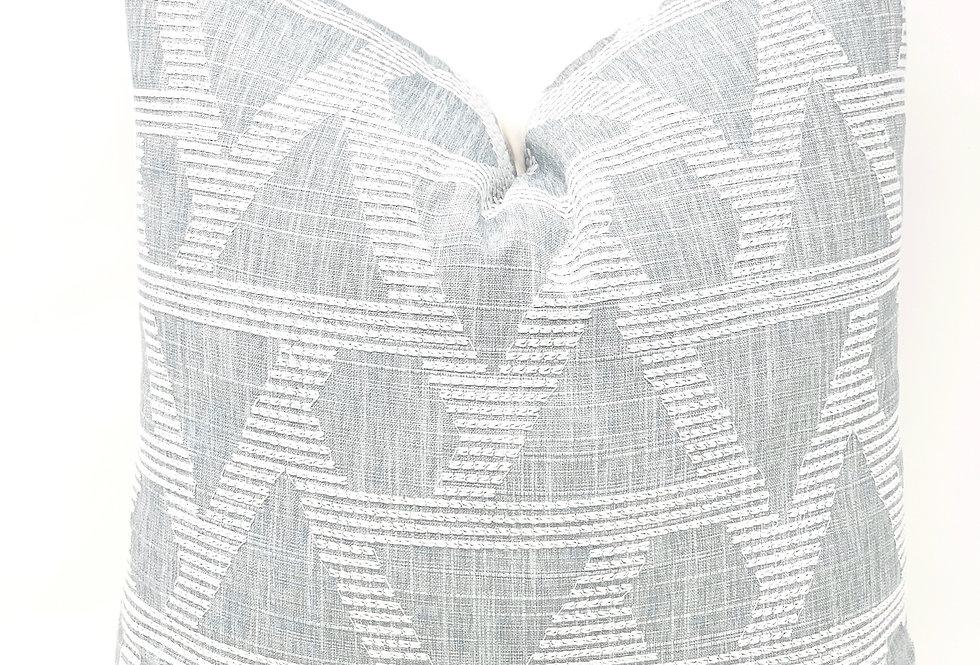 Blue White Geometric Throw Pillow-Ashland