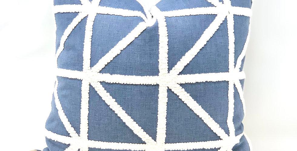 Blue Geometric Textured//Sady