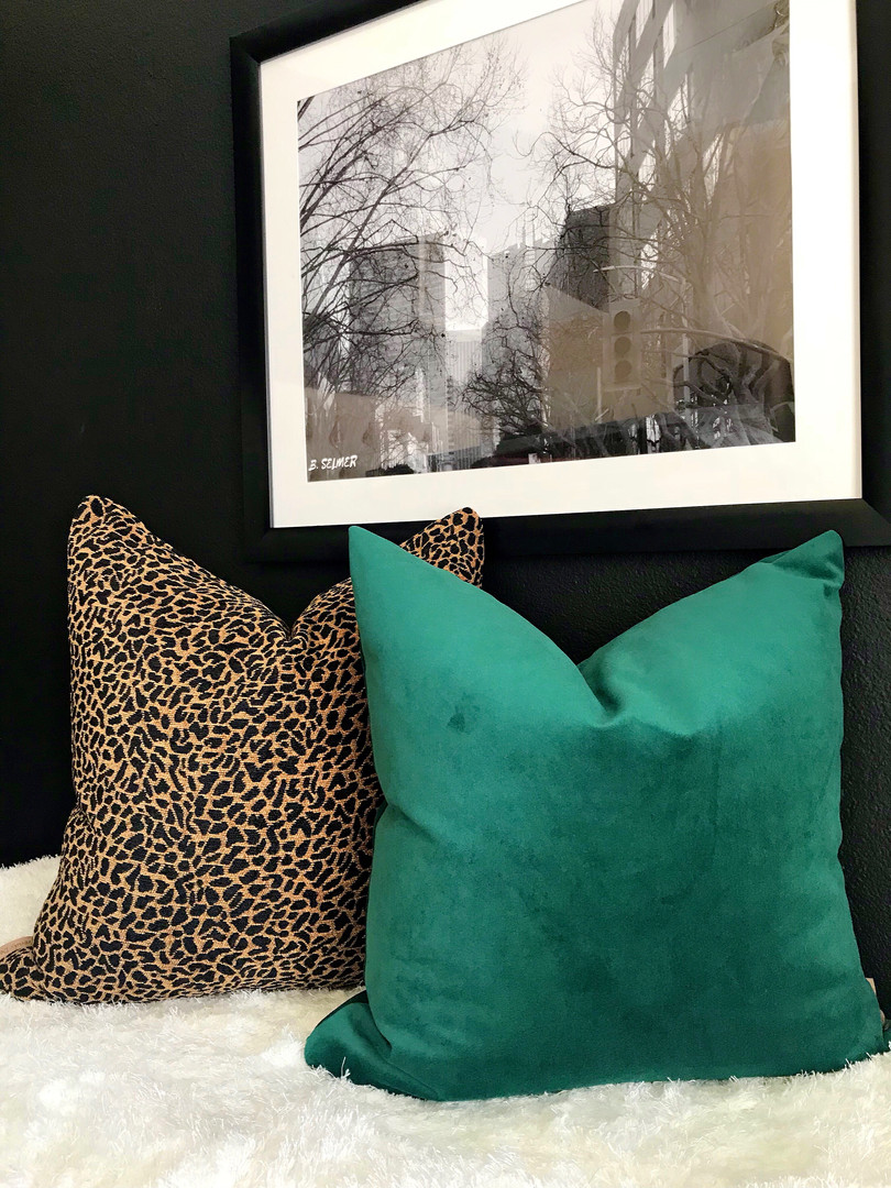 Animal Print//Black Gold Pillow