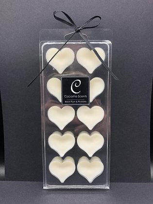 10 Heart Clamshell Wax Melts
