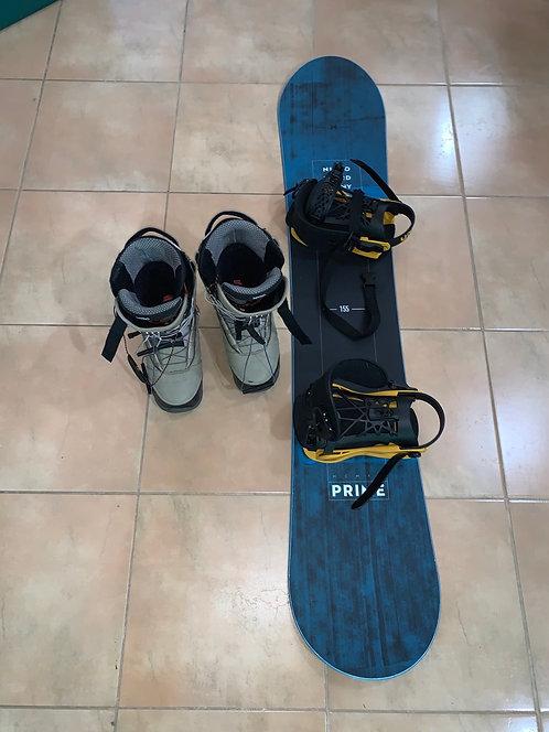 Snowboard Nitro 155cm plus botas - usado 1-2 semana!! /500USD