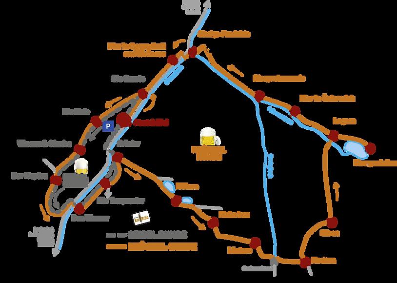 Wanderkarte GeBIERgsweg Gaming