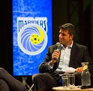 Interviewing football legend Luis Garcia