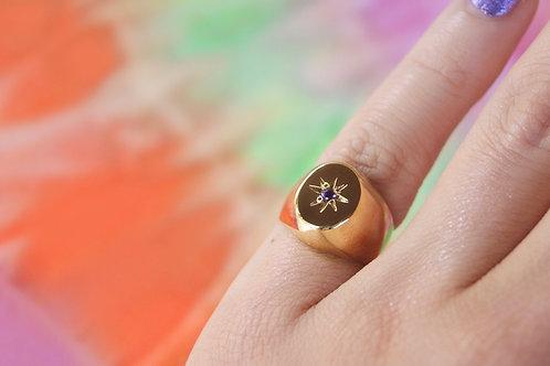 Little Finger Ring 2 com banho de ouro