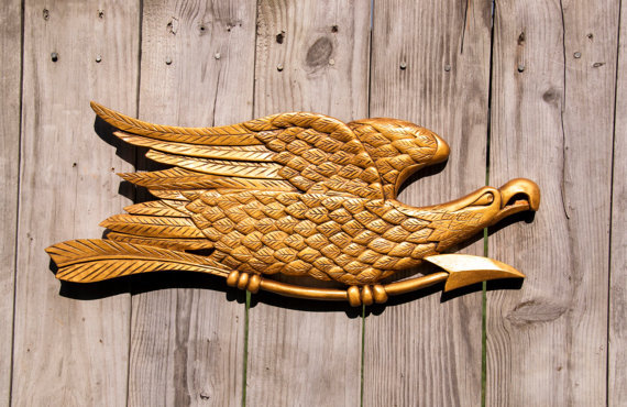 """Bellamy Style Handcarved Eagle 23""""x8.5"""" 1309"""