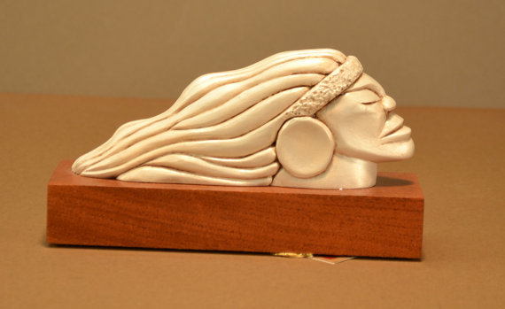 One-Of-A-Kind Wood Carved Figurehead