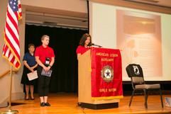 ALA Girls Nation Poppy presentation