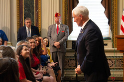 2019 ALA Girls Nation Senators with Vice President Pence