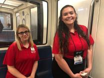 2019 ALA Girls Nation Senators on tram.