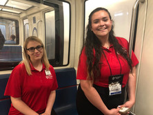 2019 ALA Girls Nation Senators on tram.