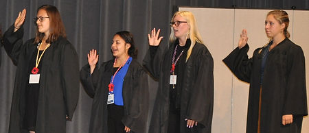 Justices of the Supreme Court Chief Justice Jesse Smith (F) Justices of the Supreme Court Adalee Alvarez (N), Katelyn Graham (N), Lindsey Johnson (F)