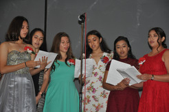 ALANMGS choir singing at the banquet.