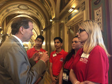 ALA Girls Nation and TAL Boys Nation Senators with Government Official
