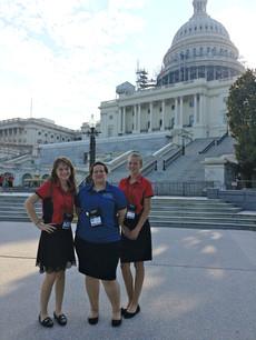 ALA Girls Nation Senators and a staff member