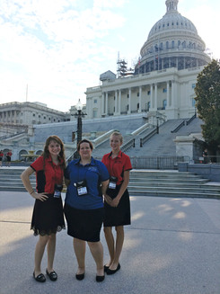 ALA Girls Nation Senators and a staff member