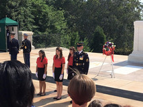 ALA Girls Nation Senators at the Tomb of the Unknown Soldier