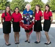 ALA Girls Nation Senators and staff with Poppy wreath