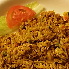 Yellow Rice with shredded chicken / Arroz con pollo
