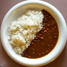 White Rice & Beans / Arroz con frijoles