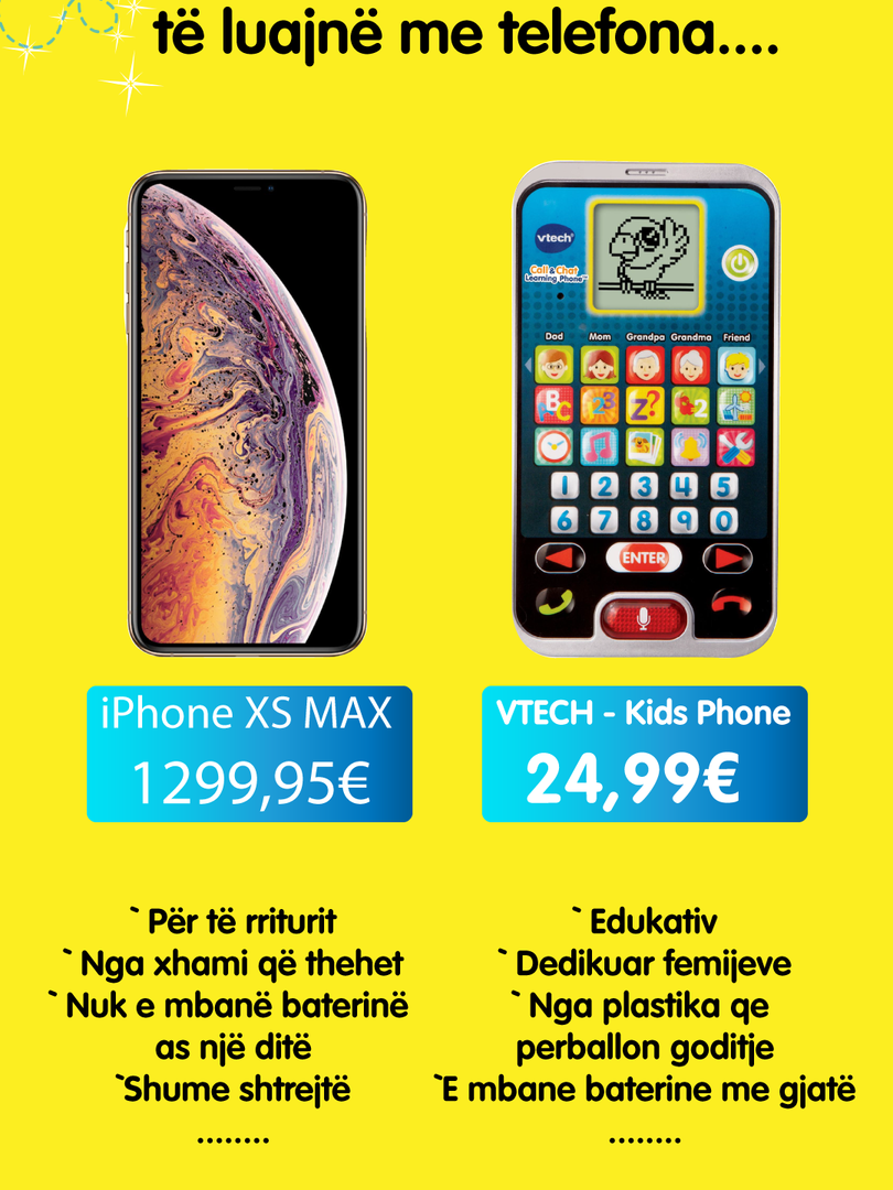 iPhone vs Vtech phone