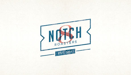 Brand identity and business card for Notch 8 Coffee Roasters by Grace Canaan Design Studio