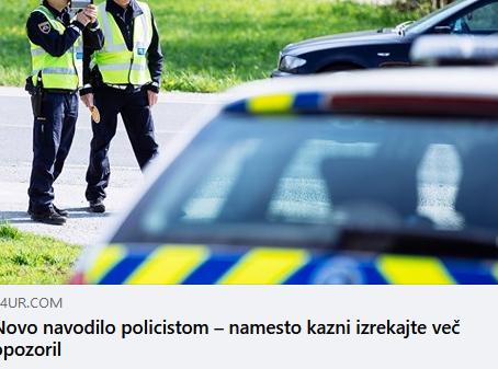 Komentar Zavoda Varna pot na nove usmeritve izrekanja opozoril za cestno prometne prekške