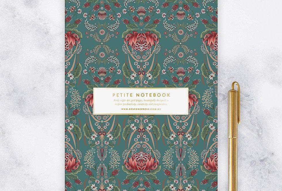 Bespoke Letterpress - Petite Notebook - Waratah (Dot Grid)