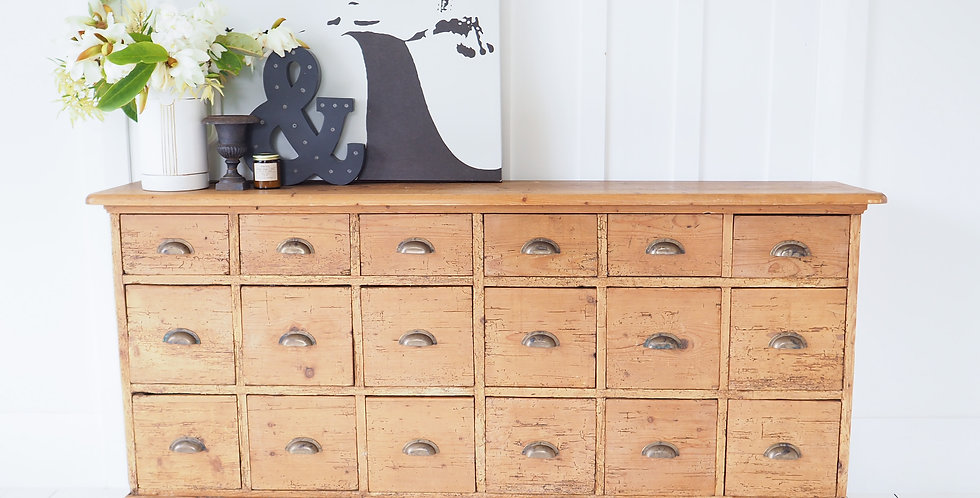 French Pine Workshop Drawers