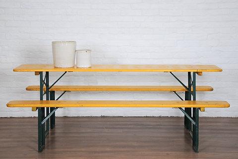 Fabulous German Beer Garden Table Bench Seats Mustard Evergreenethics Interior Chair Design Evergreenethicsorg