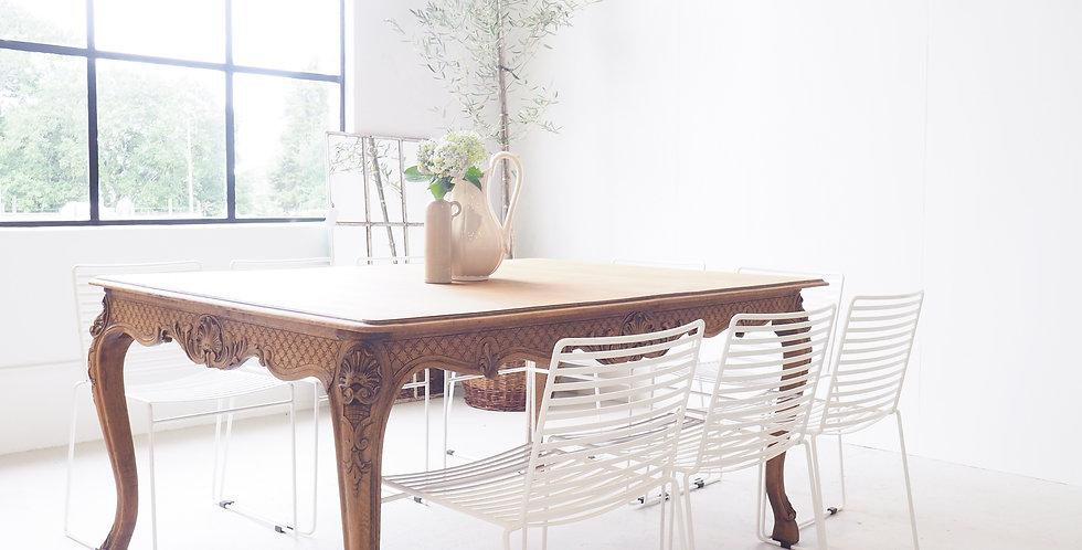 French Regency Oak Dining Table
