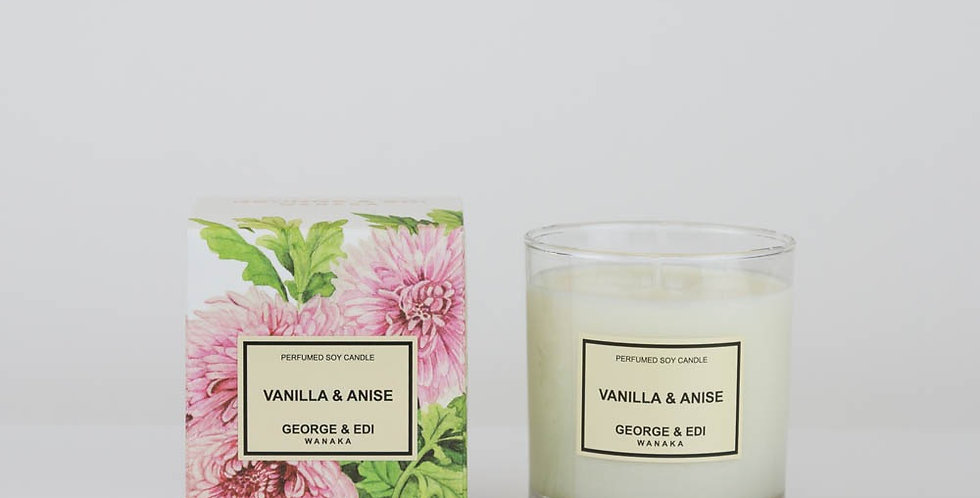 George & Edi Perfumed Soy Candle - Vanilla & Anise