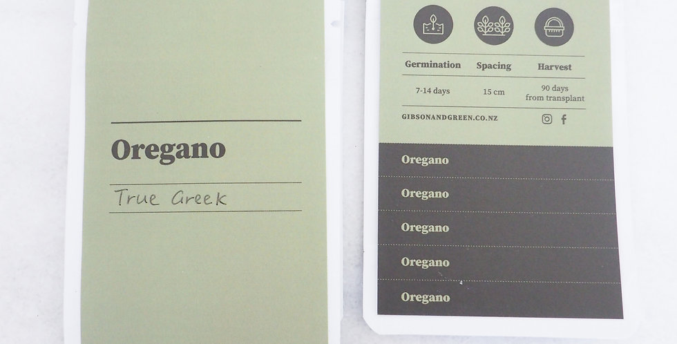 Gibson & Green Seeds - Oregano (True Greek)