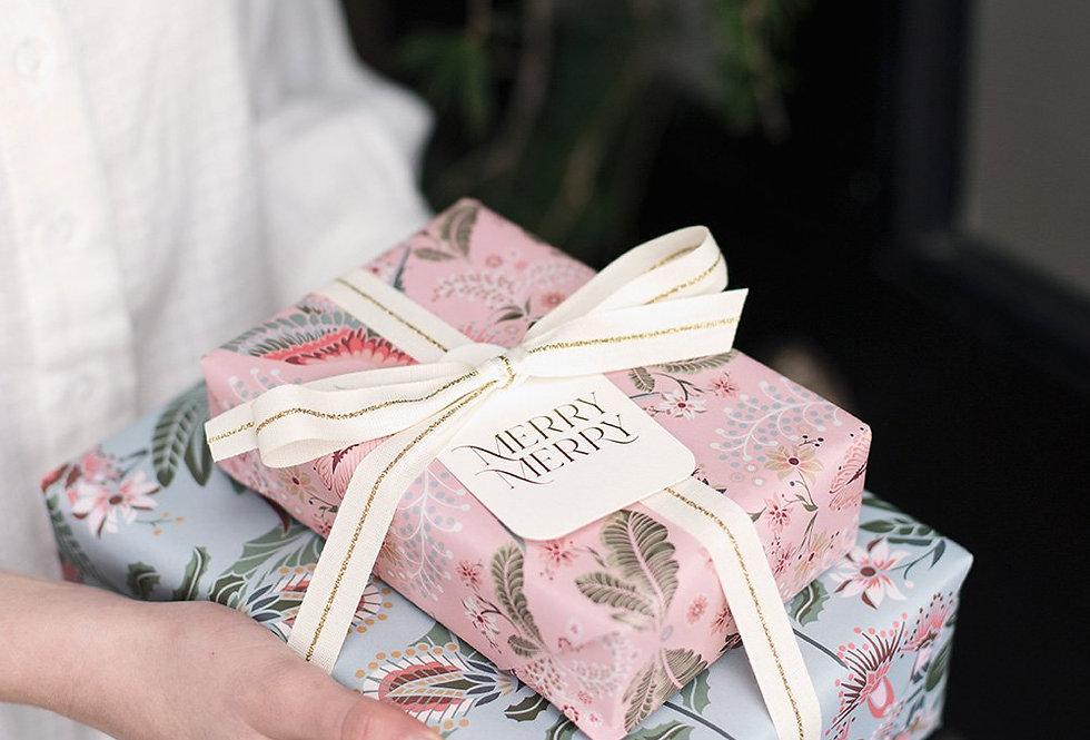 Bespoke Letterpress Giftwrap - Proteas / Lorikeets