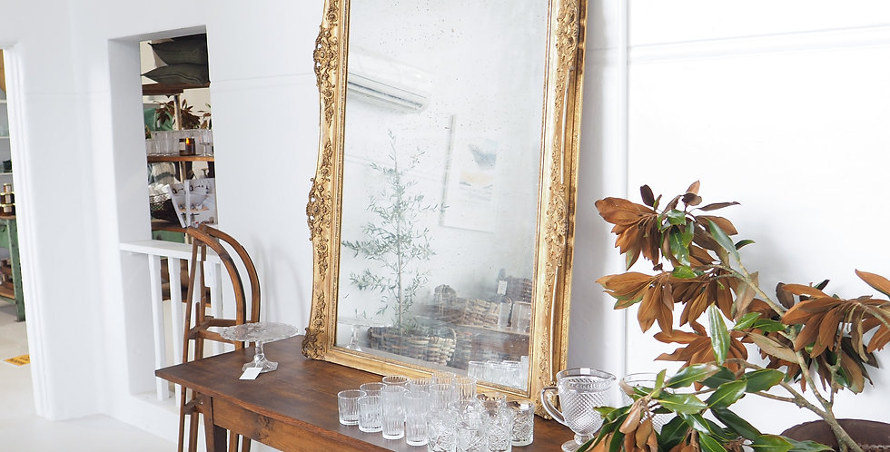 Ornate Oversized French Gilded Mirror