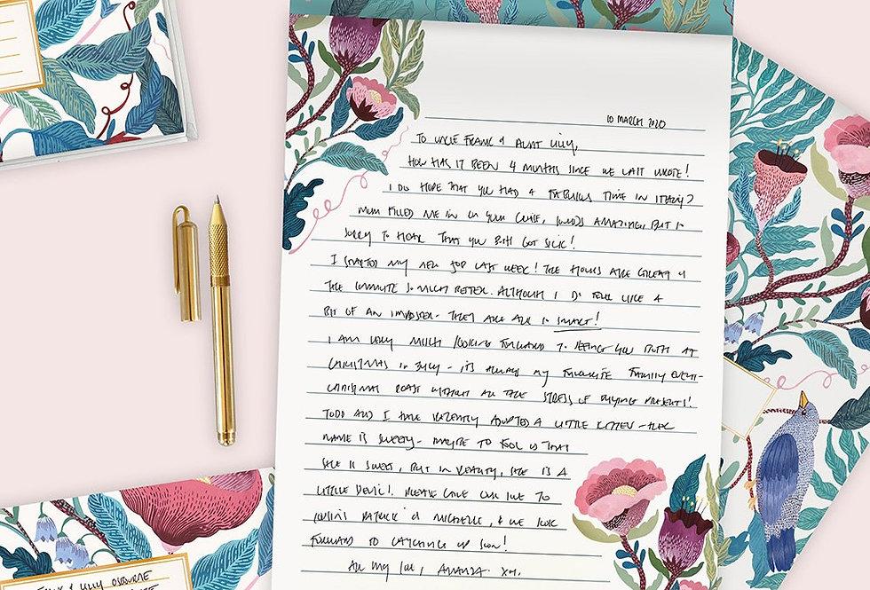 Bespoke Letterpress Writing Pad