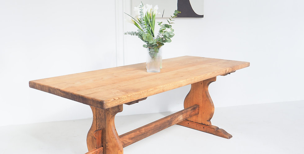 French Elm Monastery Table