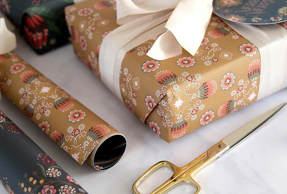 Bespoke Letterpress Giftwrap - Kaledidoflora / Banksia