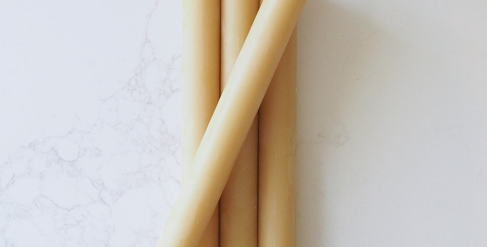 Beeswax Taper Candles - 20cm