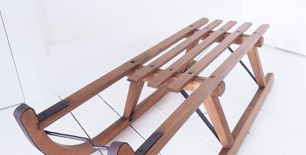 Vintage Timber Sled - Small