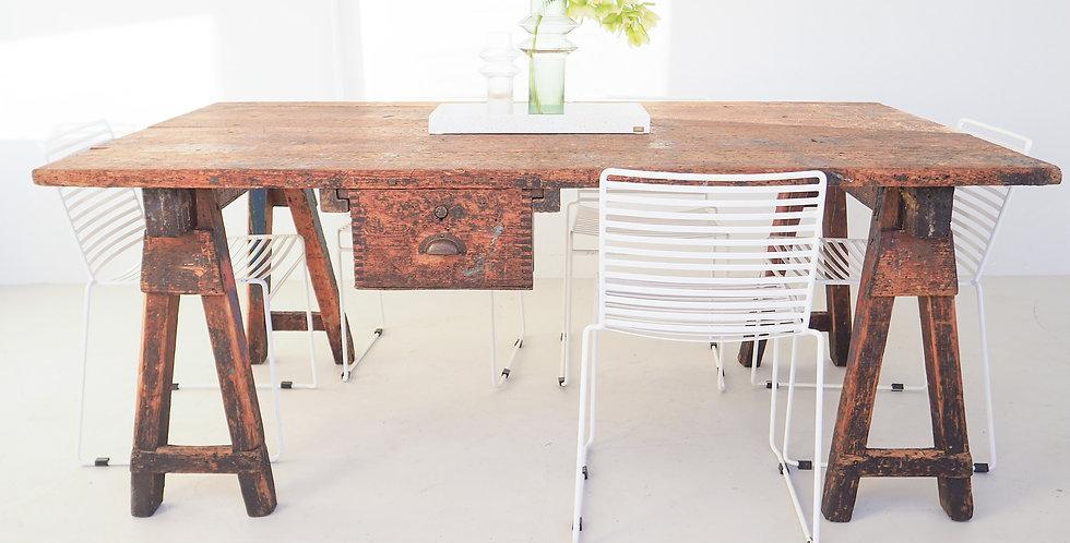 Vintage Painters Trestle Table