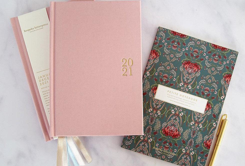 Bespoke Letterpress - Blush Week to a Page Diary