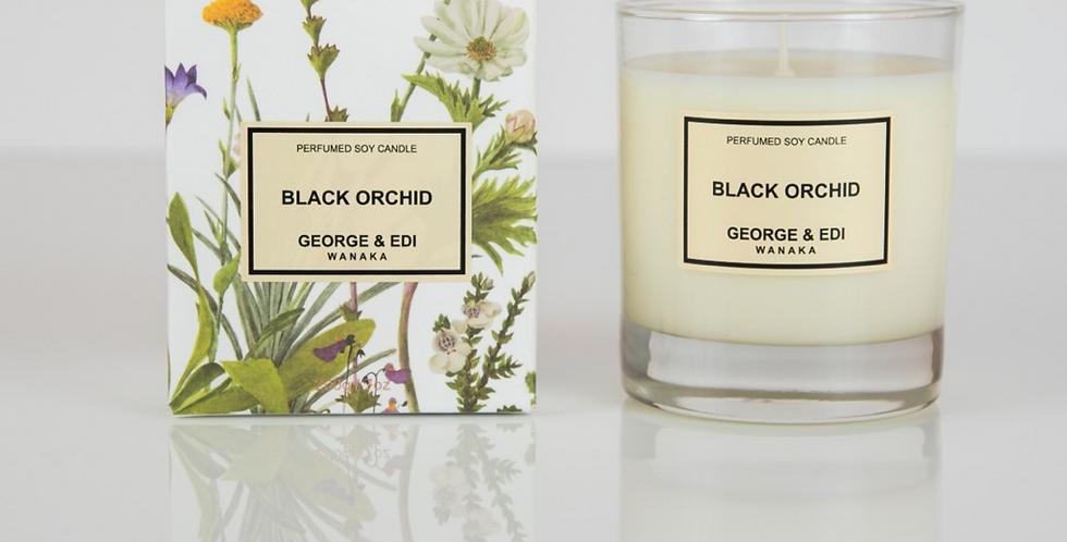 George & Edi Perfumed Soy Candle - Black Orchid