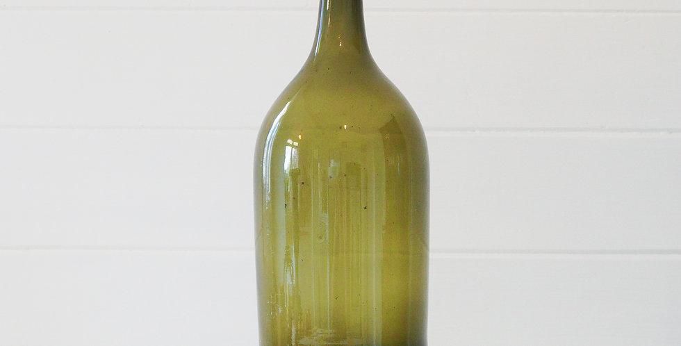 Large Vintage Green Bottle