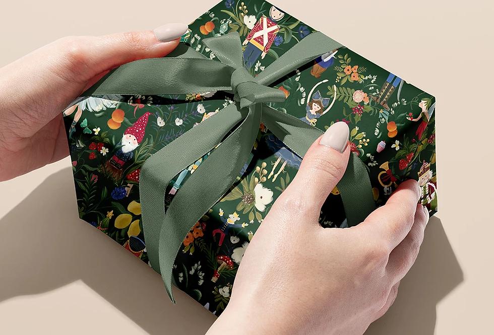 Bespoke Letterpress Giftwrap - Christmas Nutcracker / Gnome